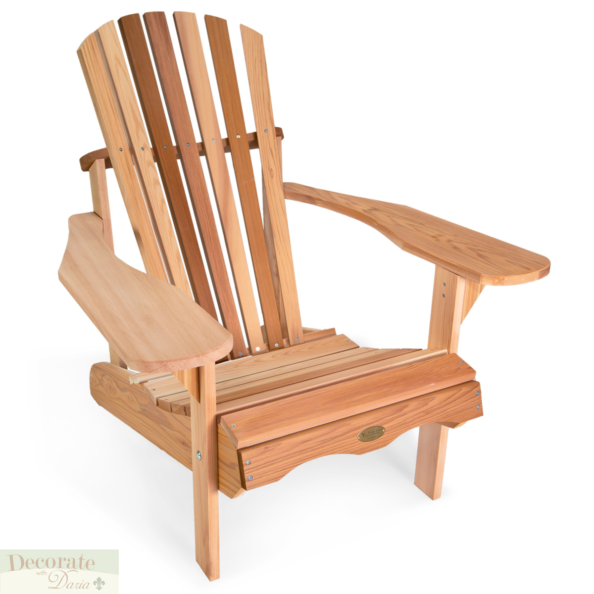Details about adirondack chair western red cedar handcrafted contoured seat comfort back new