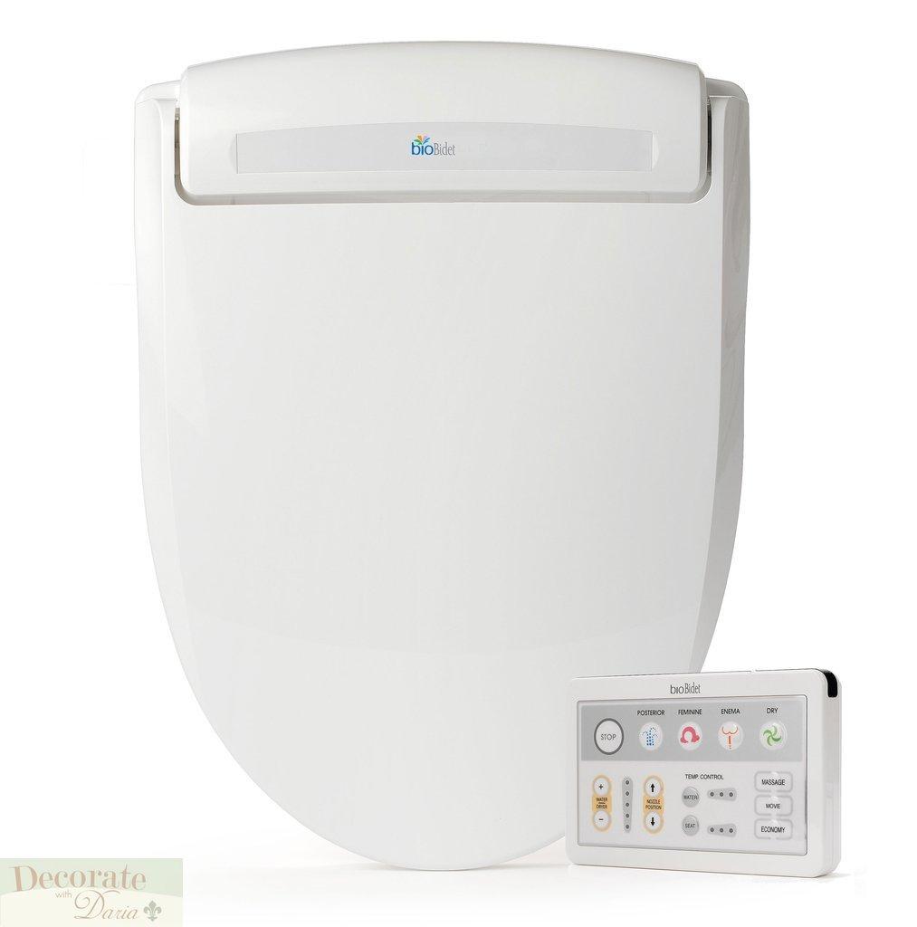 BIO BIDET BB-1000 ROUND Electronic Toilet Seat Jet Wash Dryer Remote ...