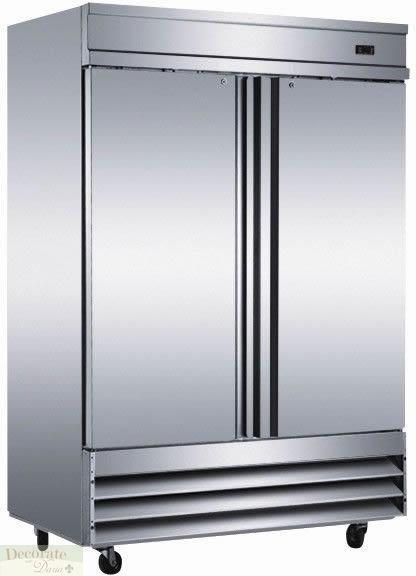 Commercial Grade Exterior Steel Doors : Freezer two solid doors restaurant quot w cu ft