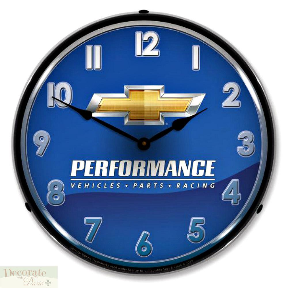 CHEVROLET PERFORMANCE PARTS RACING WALL CLOCK 14