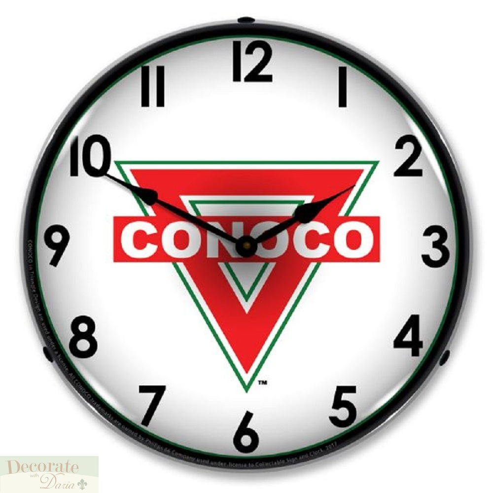 Details about Conoco Gas Station Oil Company Logo WALL CLOCK 14