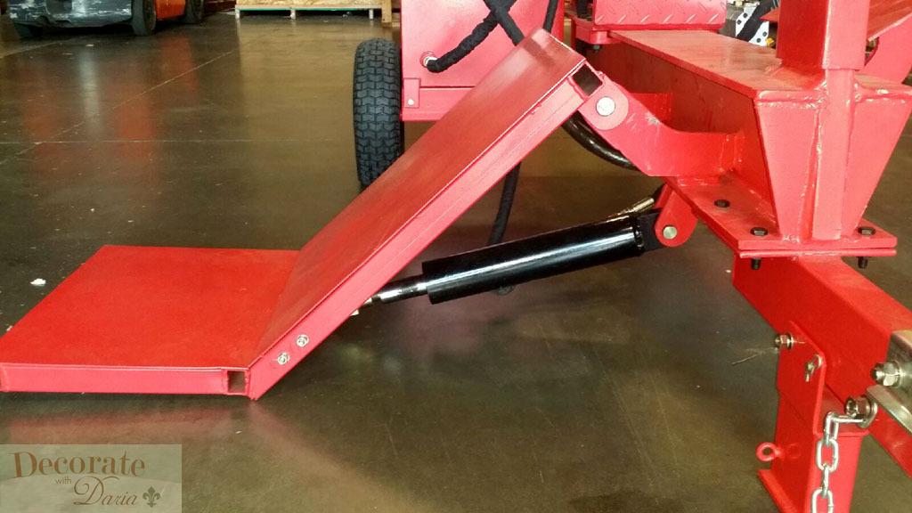 Wood Splitter With Lift : Ton log wood splitter lift hp gas engine