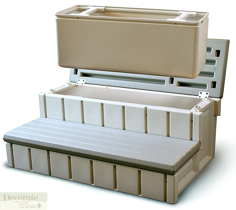 Spa Stairs Storage : Details about STORAGE STEPS to HOT TUB SPA Step Redwood Color Resin 36 ...