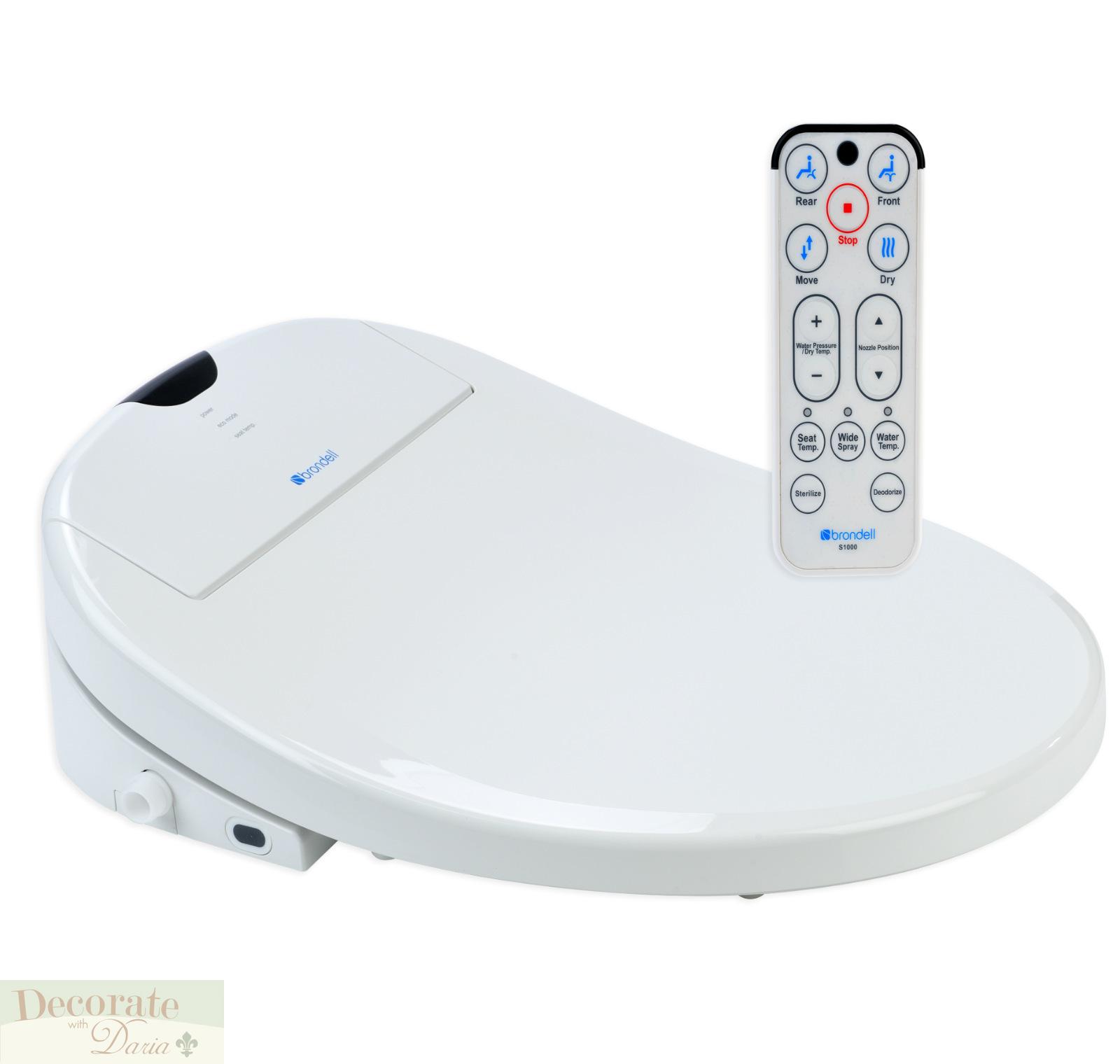 bidet brondell elongated swash 1000 toilet seat remote control hygiene wash new ebay. Black Bedroom Furniture Sets. Home Design Ideas