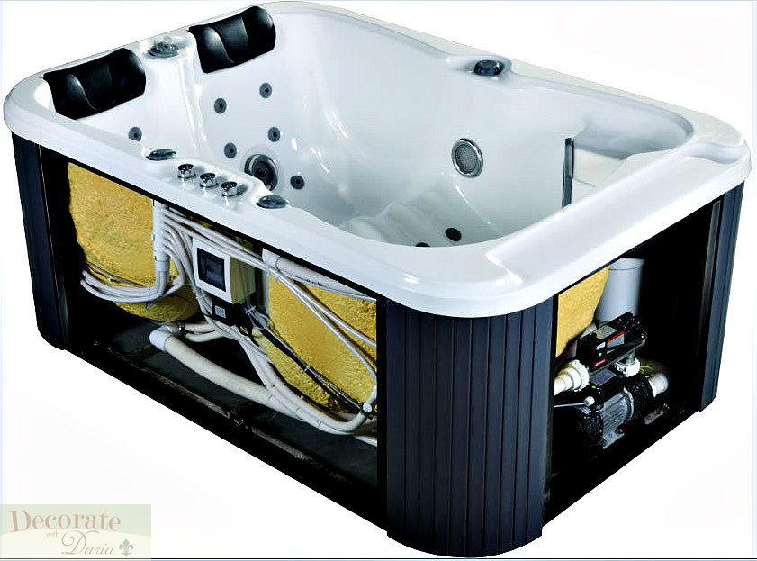 2 PERSON HOT TUB SPA INDOOR Hydrotherapy 31 Jet 2 Loungers 220v ...
