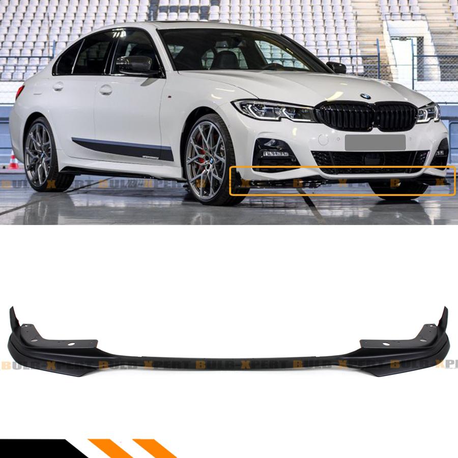 Glossy Painted Black Front Bumper Lip Spoiler Splitter Kit for BMW G20 G28 330i M340i M Sport 2019-2020