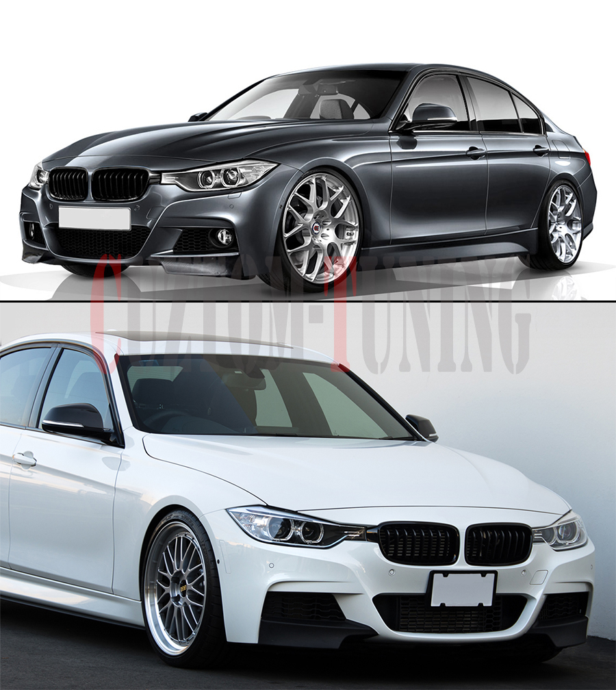 CARBON FIBER SPLITTER FOR 2012-2016 BMW F30 SEDAN W/ M