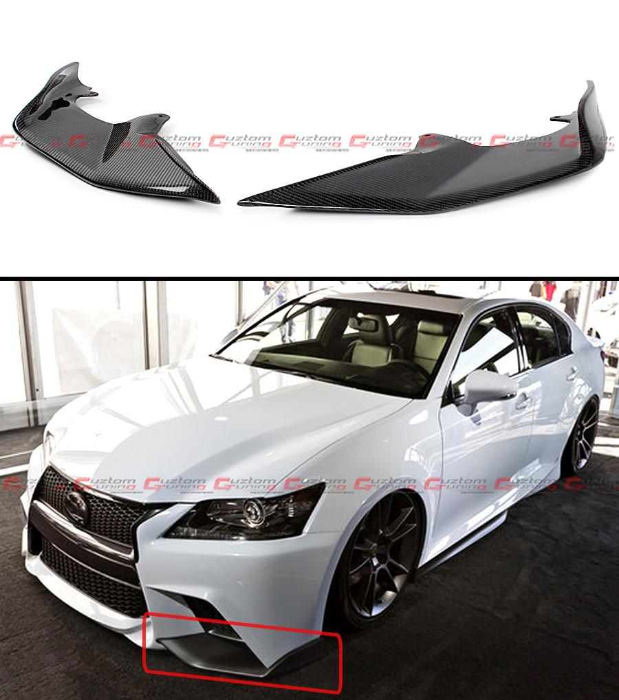 2015 Lexus Gs 350 F Sport For Sale >> 2 PC JDM CARBON FIBER FRONT BUMPER SPLITTERS LIP FOR 2013-15 LEXUS GS350 F SPORT | eBay