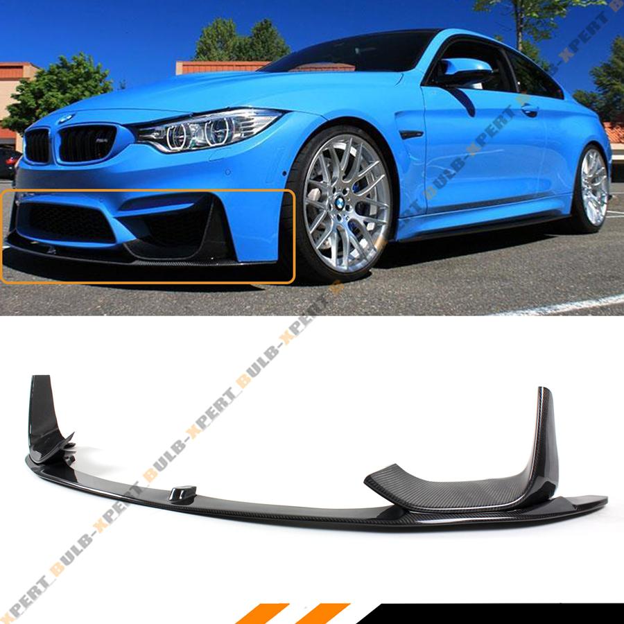 Performance Style Front Bumper Spoiler Lip 3PCS Fits 2014 F82 M4 BMW F80 M3