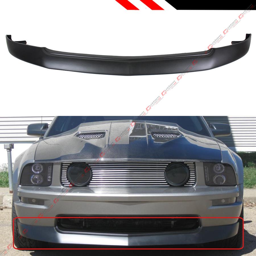 FOR 2005-2009 FORD MUSTANG GT FRONT BUMPER LIP SPLITTER CHIN SPOILER BODY KIT