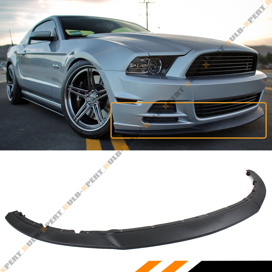 2013 Mustang Front Bumper >> Details About For 2013 2014 Ford Mustang R Style Lower Front Bumper Lip Chin Spoiler Splitter