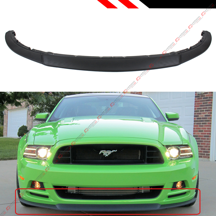 2013 Mustang Front Bumper >> Details About For 2013 2014 Ford Mustang Ro Style Lower Front Bumper Lip Splitter Chin Spoiler