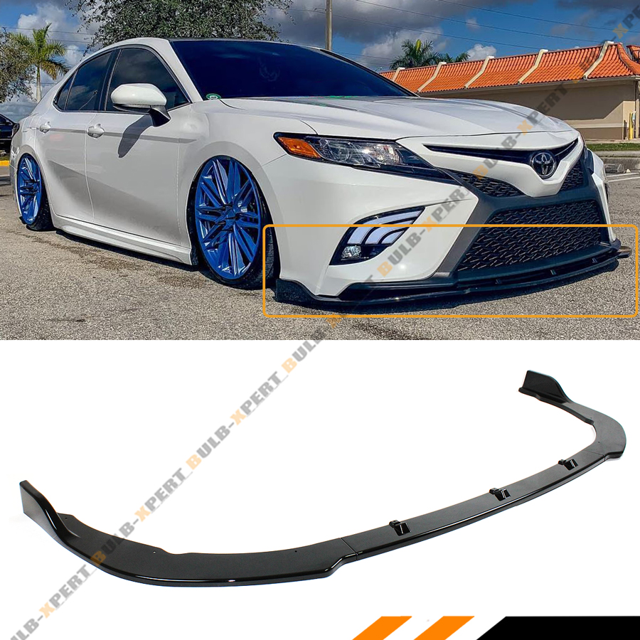 For 18-20 Toyota Camry Painted White Front Bumper Body Splitter Spoiler Lip  3PCSGrupo Lasse's