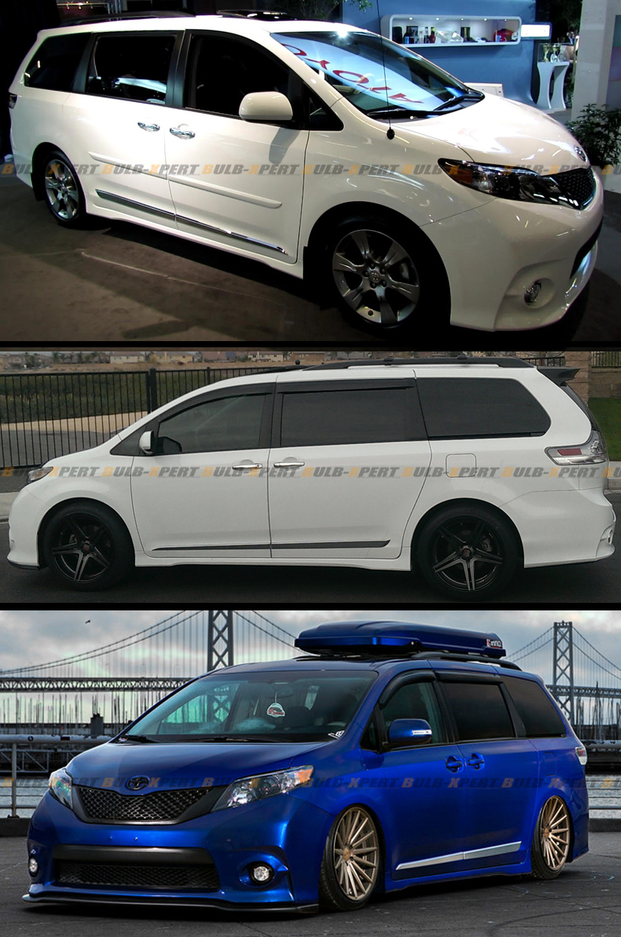 For 2011 2016 Toyota Sienna Chrome Vip Abs Side Door Body