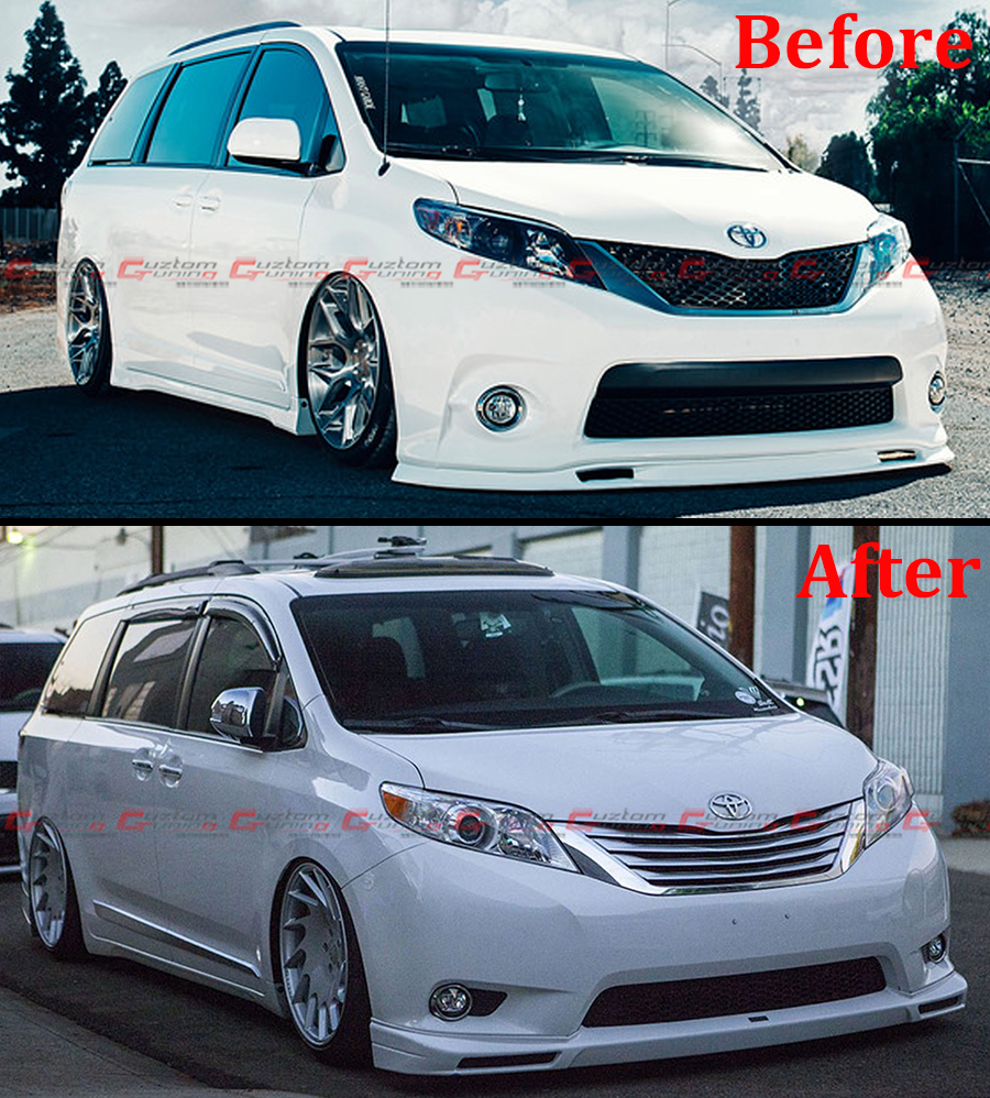 For 2011 17 Toyota Sienna Chrome Side Molding Moulding