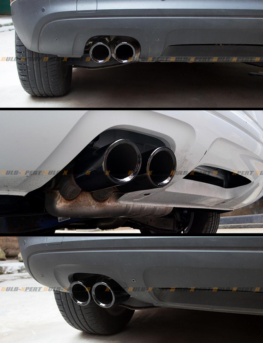 5 Inch Exhaust Pipe >> TITANIUM BLACK CHROME SLIP-ON STEEL MUFFLER EXHAUST TIPS ...