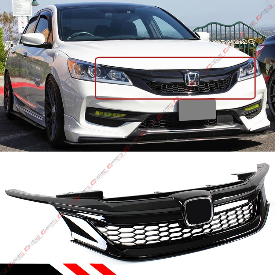 For 2016-17 9th Gen Honda Accord Sedan Gloss Black Out