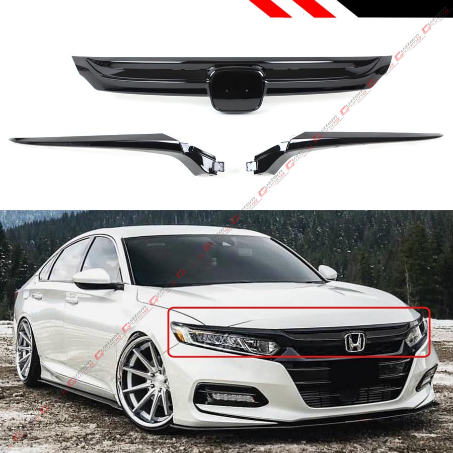 For 2018-2019 10th Gen Honda Accord Sedan Glossy Black