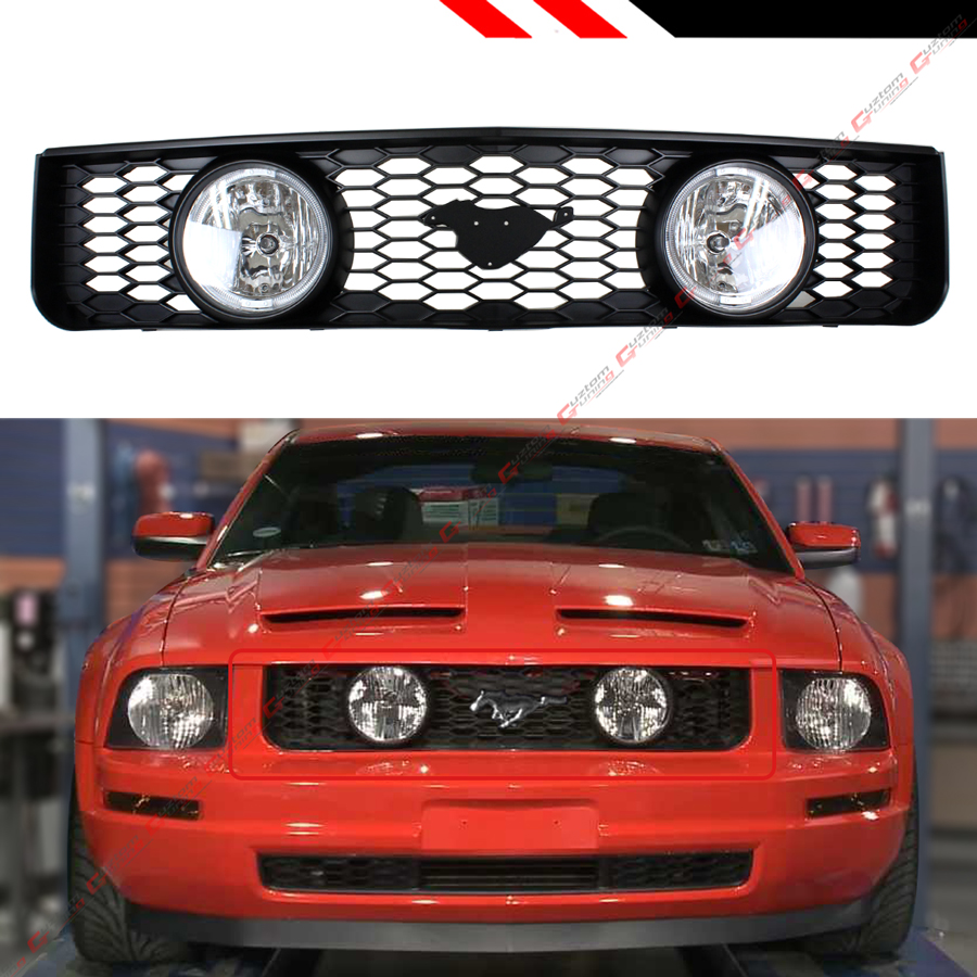 For Ford F150//Expedition 3 inches Black Bull Bar+6 inches Black Housing Clear Lens Fog Lights