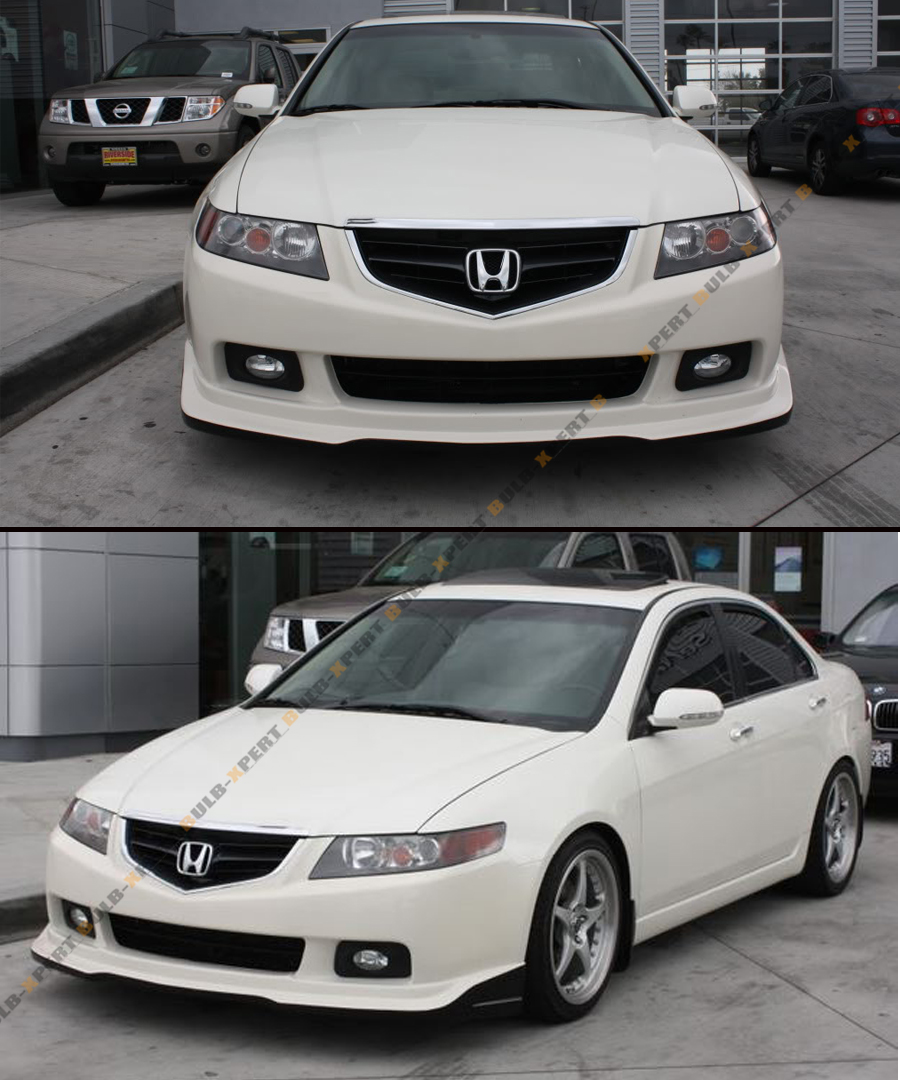 FOR : ACURA TSX EURO R CL7 ACCORD STYLE BLK CHROME FRONT