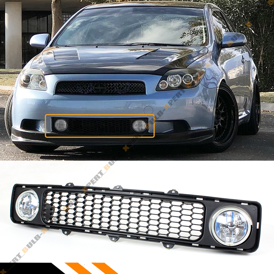 AUTOWIKI Pair of Yellow Lens Bumper Driving Fog Lights Replacement for 2005-2010 Scion TC with Bulbs w//Switch and wiring kit H3 12V 55W