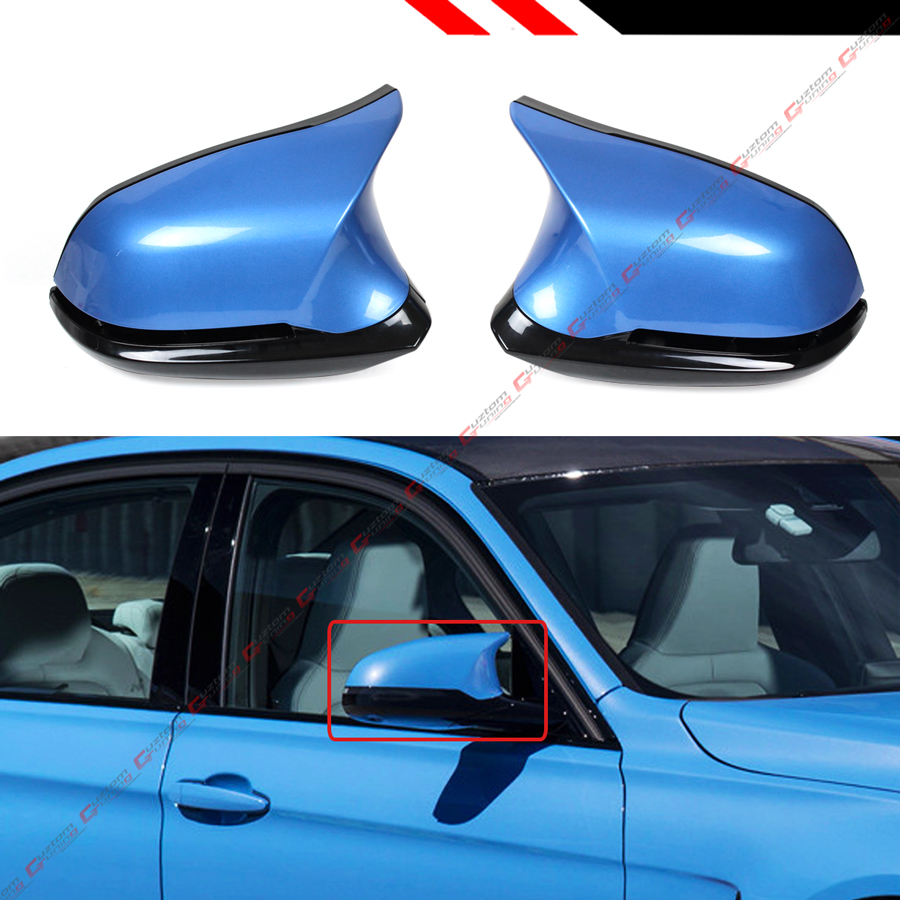 BMW 3 SERIES 2012 ON F30 F31 PAIR OF WING MIRROR COVERS IN ESTORIL BLUE