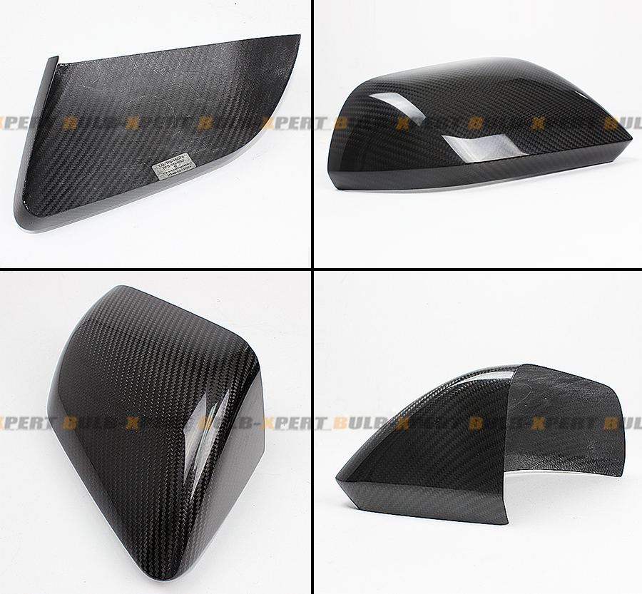 Real Carbon Fiber Side Mirror Covers For 2015 2016 Ford