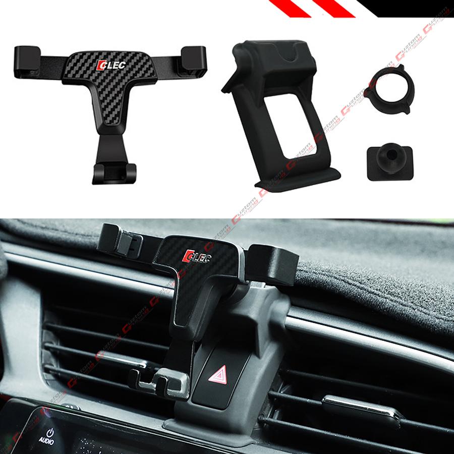 LUNQIN Car Phone Holder for Honda Civic 2016-2020 Auto Accessories Navigation Bracket Interior Decoration Mobile Cell Phone Mount