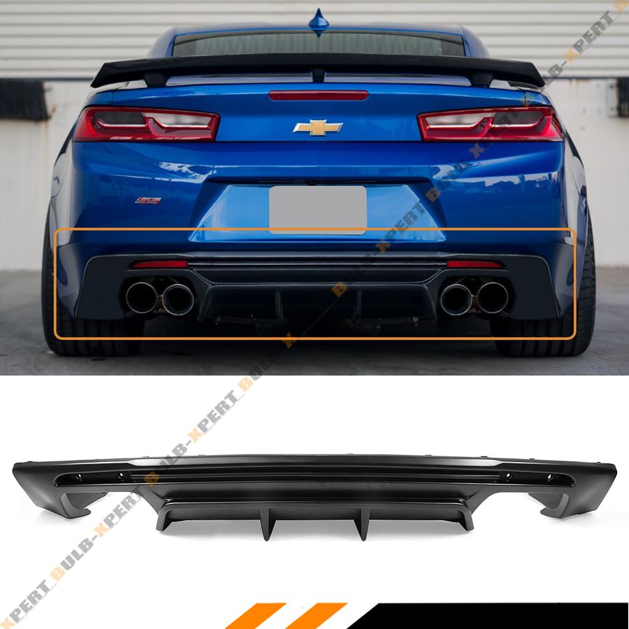 For 16 2020 Chevy Camaro Lt Rs Ss Shark Fin Rear Bumper Diffuser Replacement Pp Ebay
