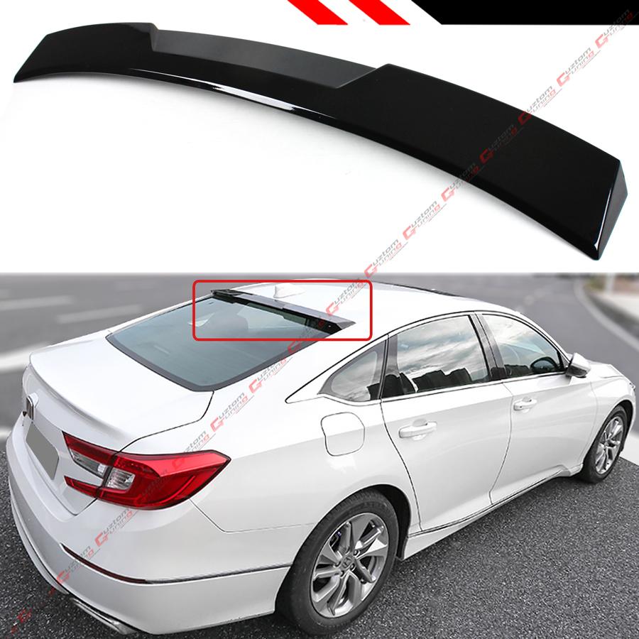 for 2018 honda accord 10th gen sedan vip glossy black rear. Black Bedroom Furniture Sets. Home Design Ideas