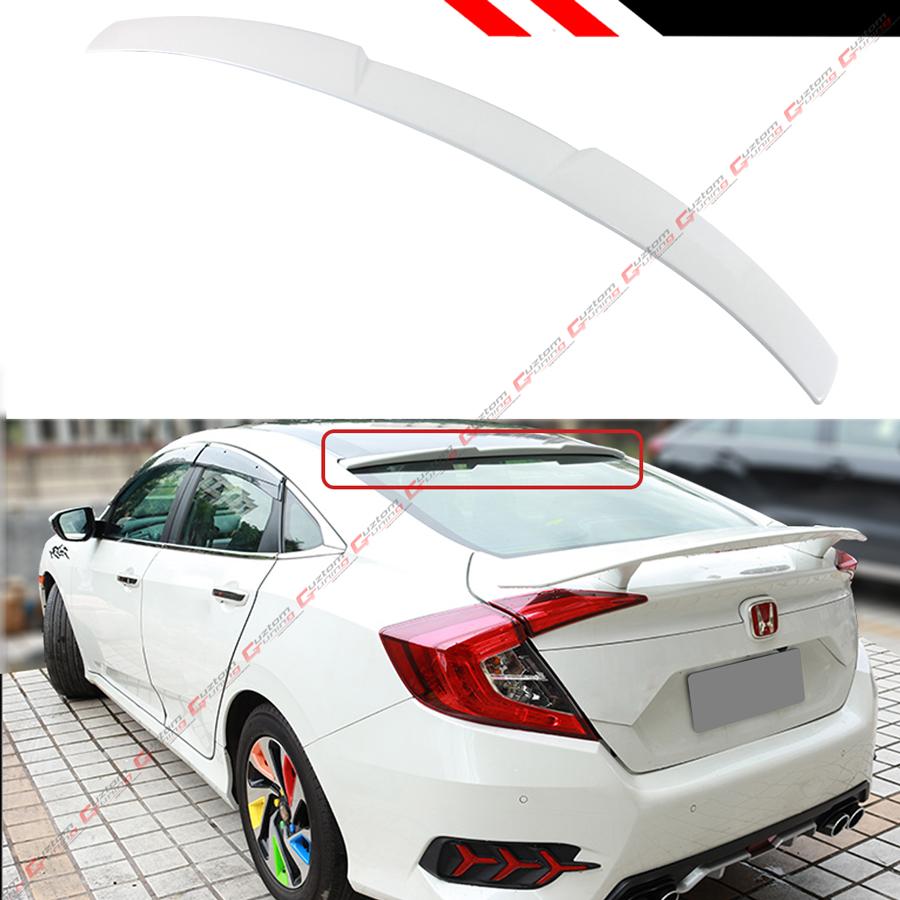 FOR 2016-2018 10TH GEN HONDA CIVIC X SEDAN GLOSSY RED REAR WINDOW ROOF SPOILER