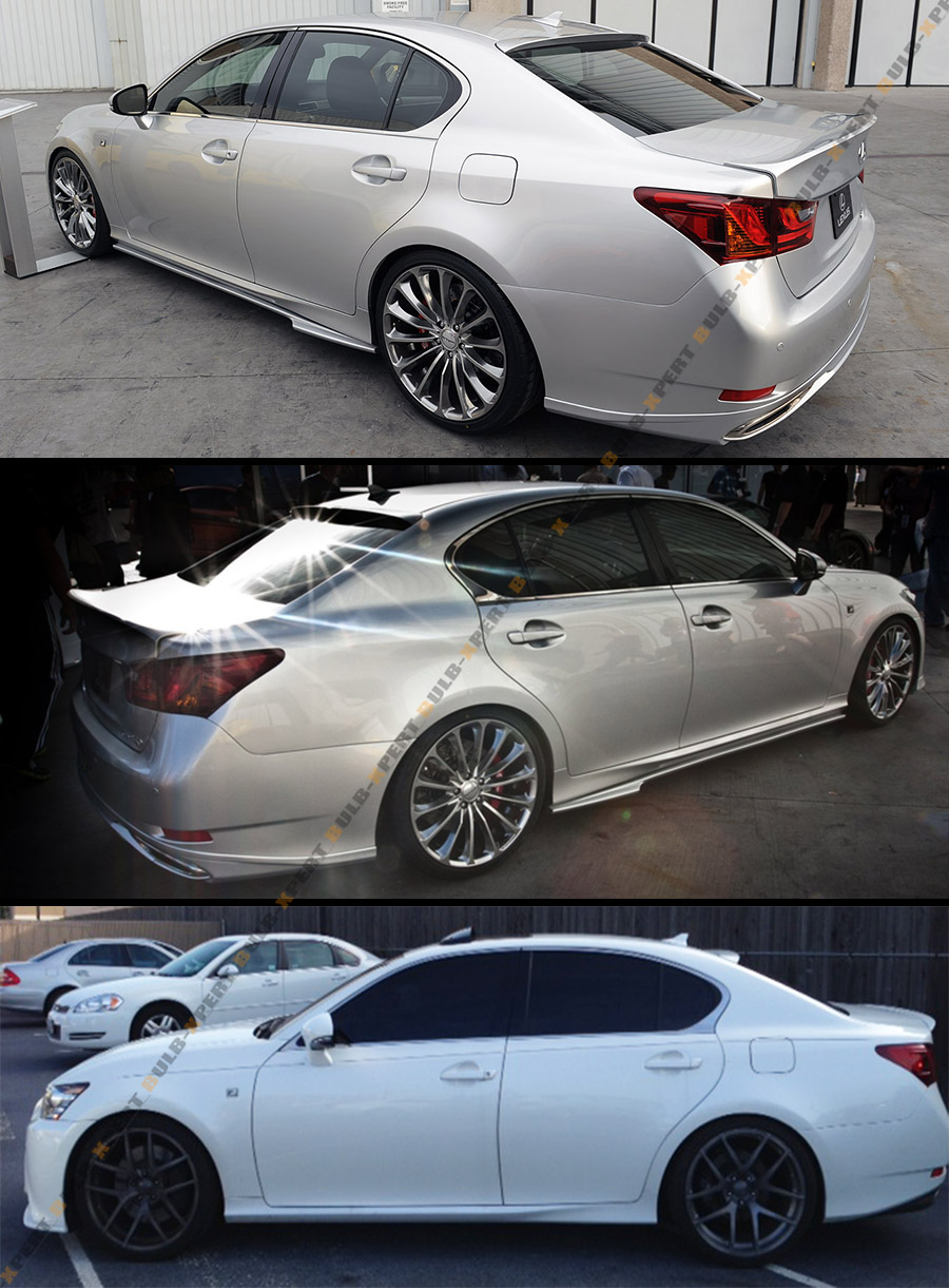 for 2013 15 lexus gs350 gs450h f sport model style rear roof window spoiler wing ebay. Black Bedroom Furniture Sets. Home Design Ideas