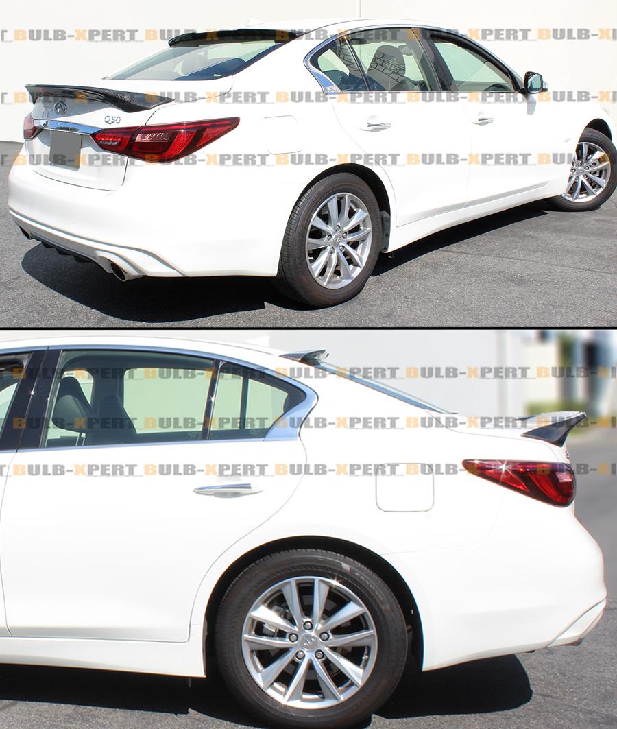 FOR 2014-2019 INFINITI Q50 VIP M4 STYLE CARBON FIBER REAR
