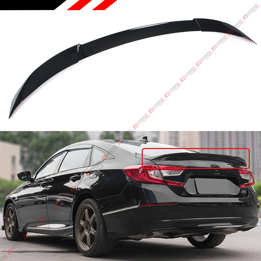 FOR 2018-2019 HONDA ACCORD JDM V TYPE PAINTED BLACK PEARL