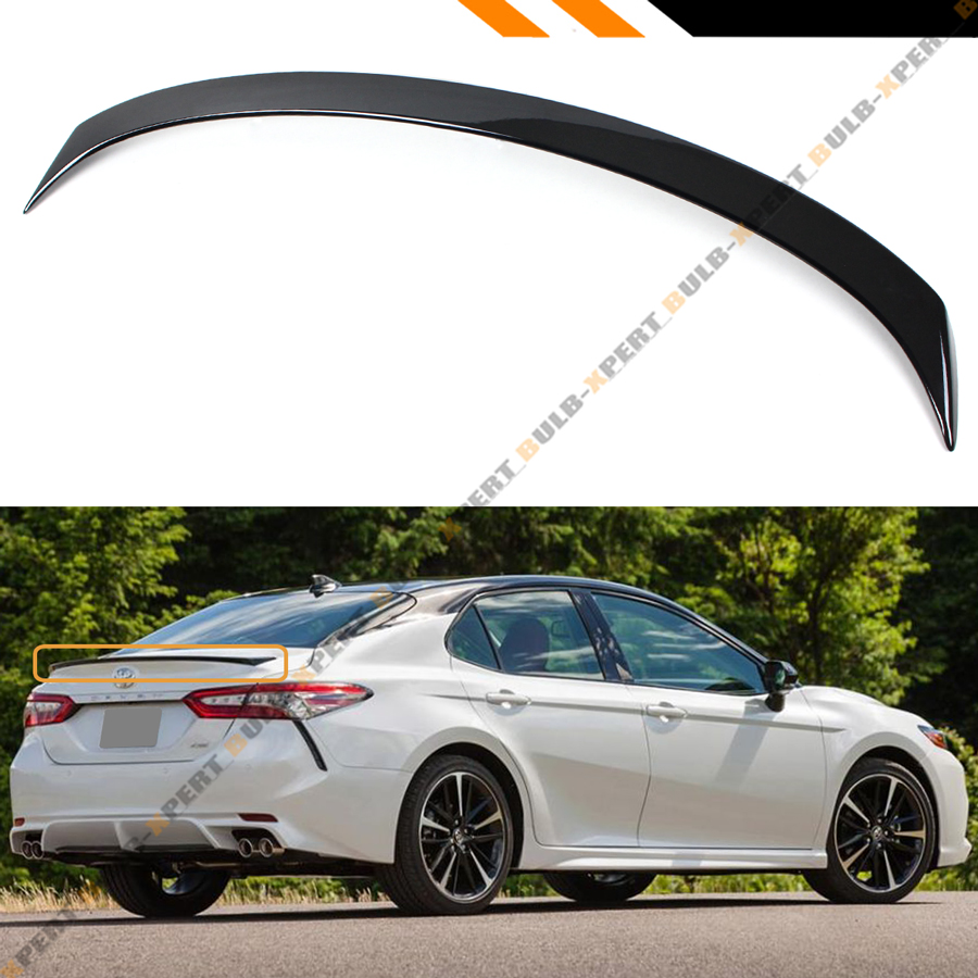 details about for 2018 2019 toyota camry painted gloss black sport rear trunk lid spoiler wing