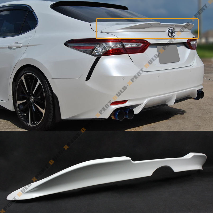 For 2018 2019 Toyota Camry Pearl White Duckbill Tr Style Rear Trunk