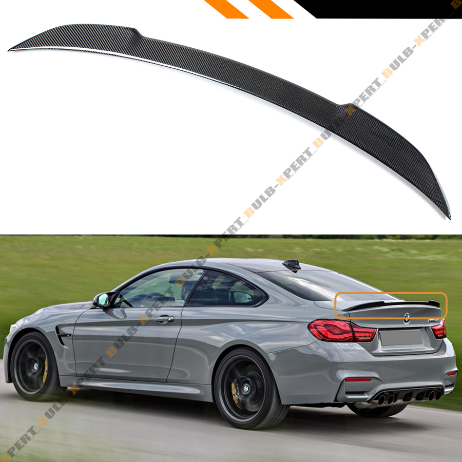 FOR 2015-2019 BMW F82 M4 V PERFORMANCE STYLE CARBON FIBER TRUNK LID SPOILER WING