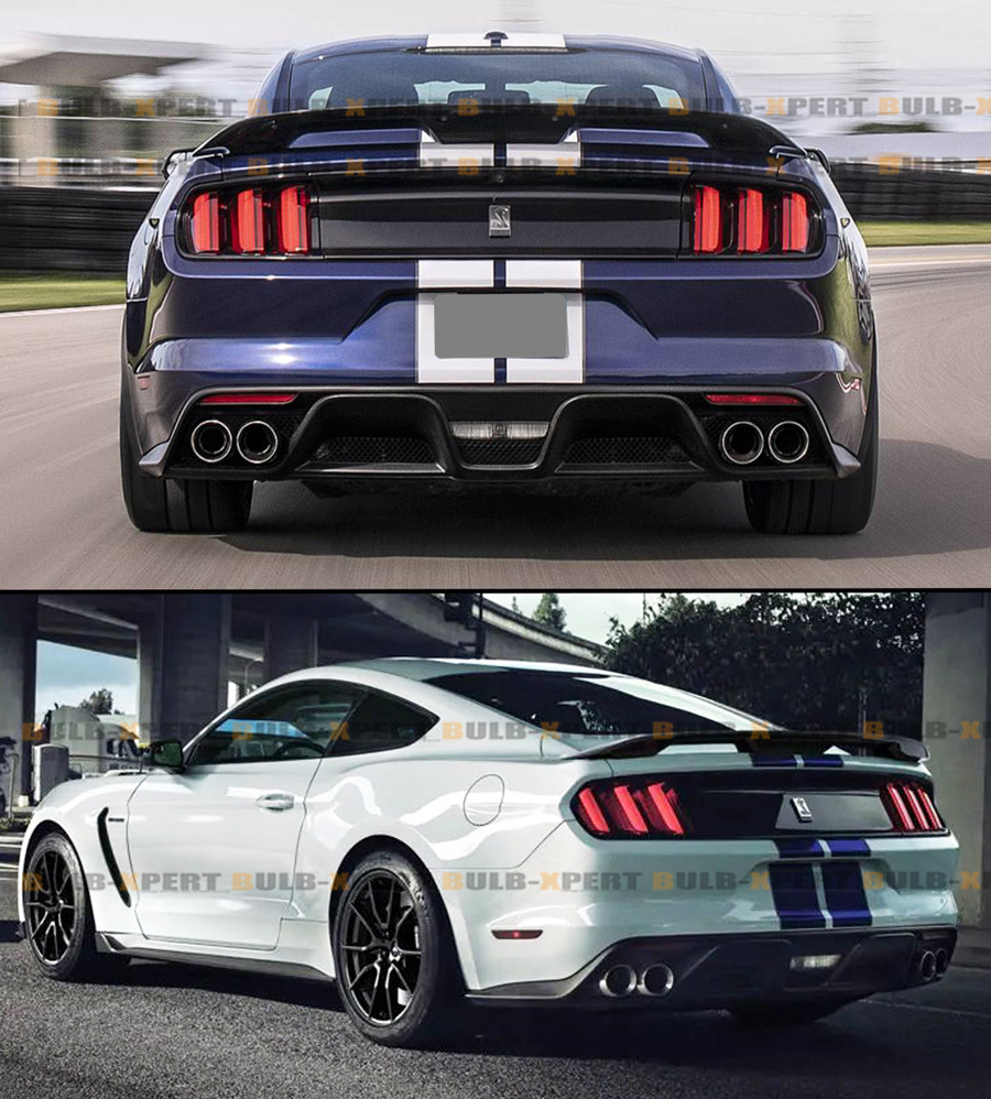 Glossy Black GT500 GT350 Style Trunk Spoiler Wing For S550 ...