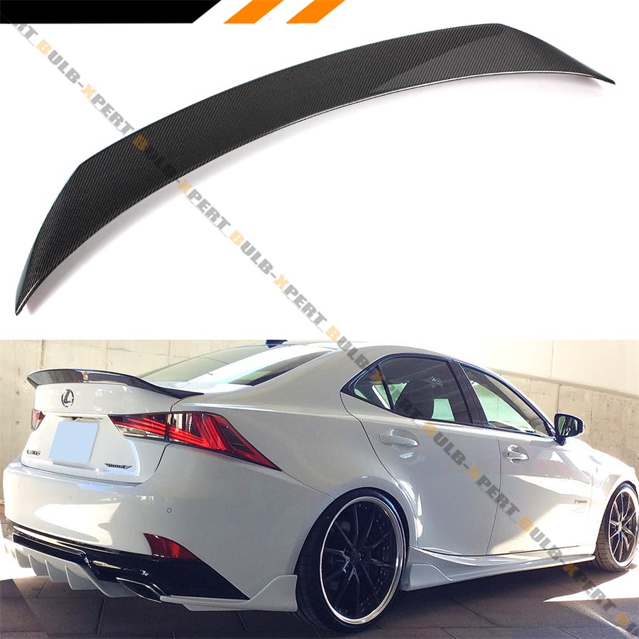 For 14-16 IS250 IS350 IS200t F Sport Style Glossy Black Rear Trunk Wing Spoiler
