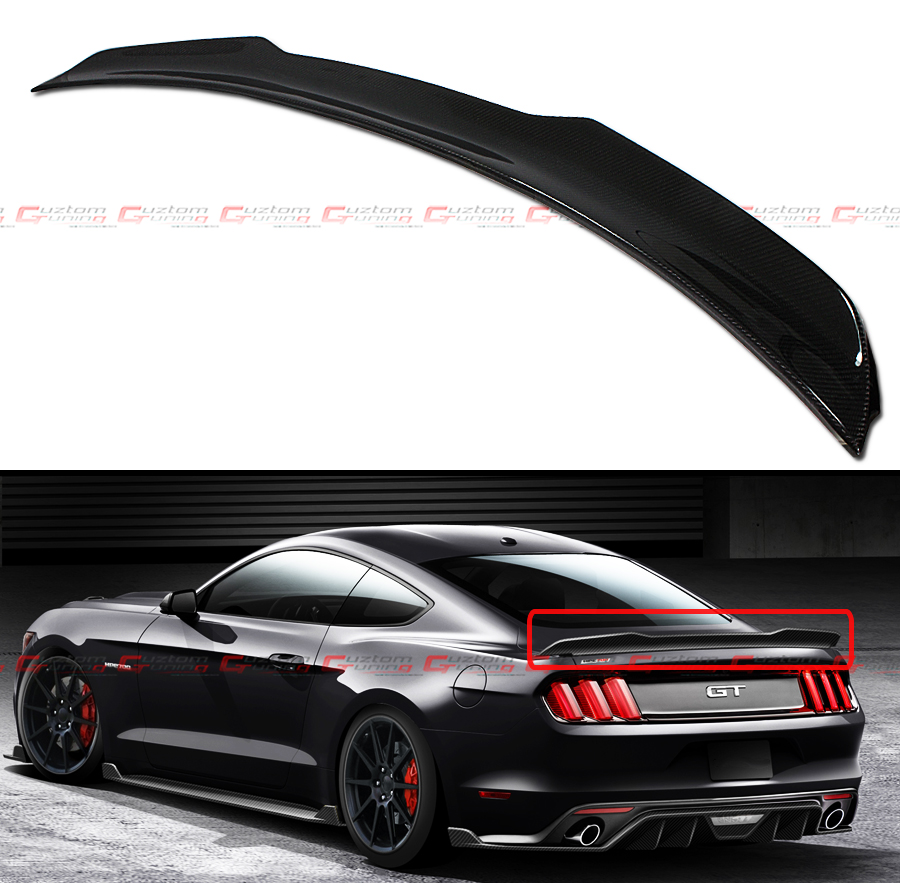 Mustang S550 Procharger Installation: For Ford Mustang 2015-2017 GT H Style Carbon Fiber Rear