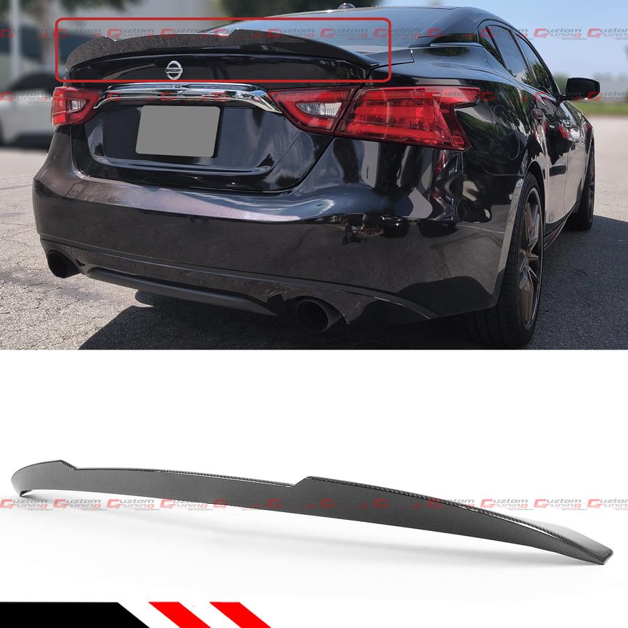 For 16 2020 Nissan Maxima 8th Highkick Duckbill Carbon Fiber Trunk Spoiler Wing Ebay