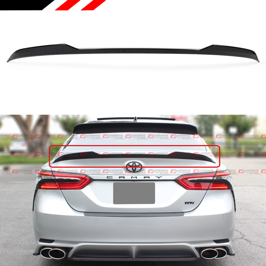camry toyota xse se trunk le lid spoiler xle 2021 glossy m4 ct