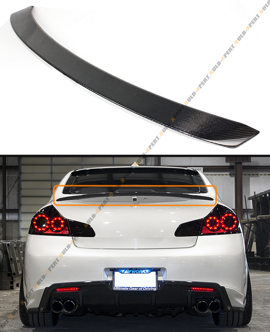 CARBON FIBER JDM VIP REAR TRUNK SPOILER WING FIT FOR 2007 ...