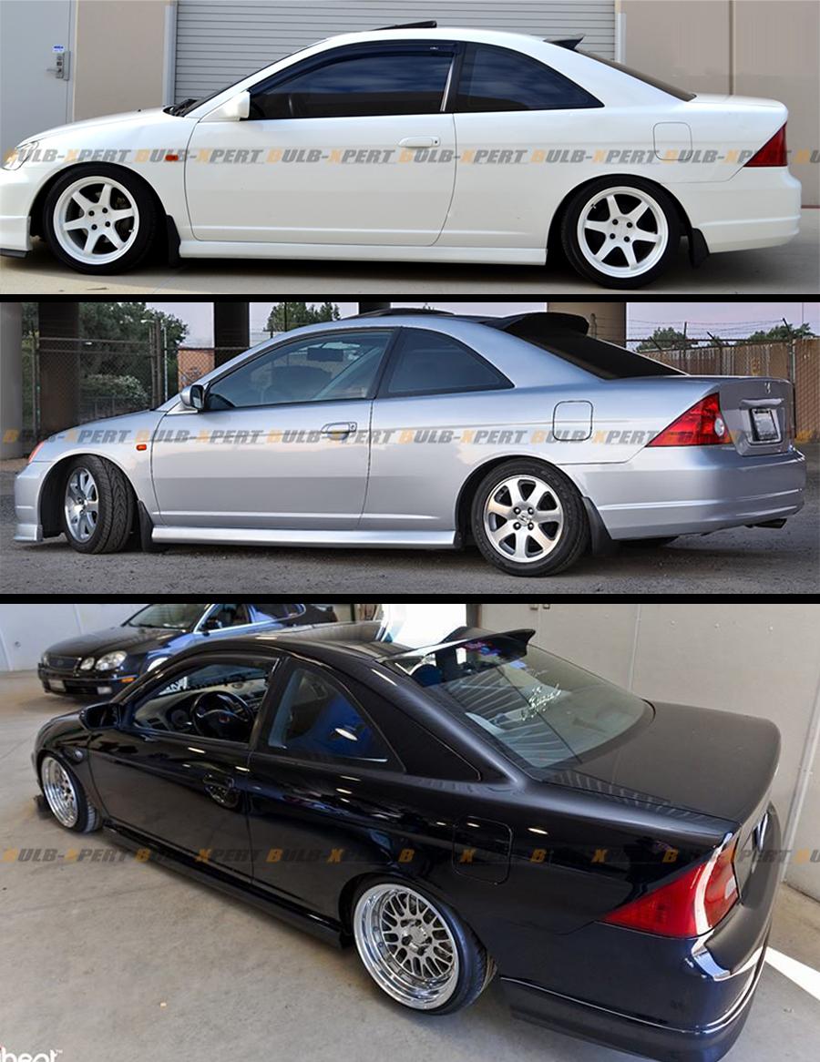 For 01 05 em2 7th honda civic 2dr coupe jdm rear roof for 2001 honda civic rear window visor