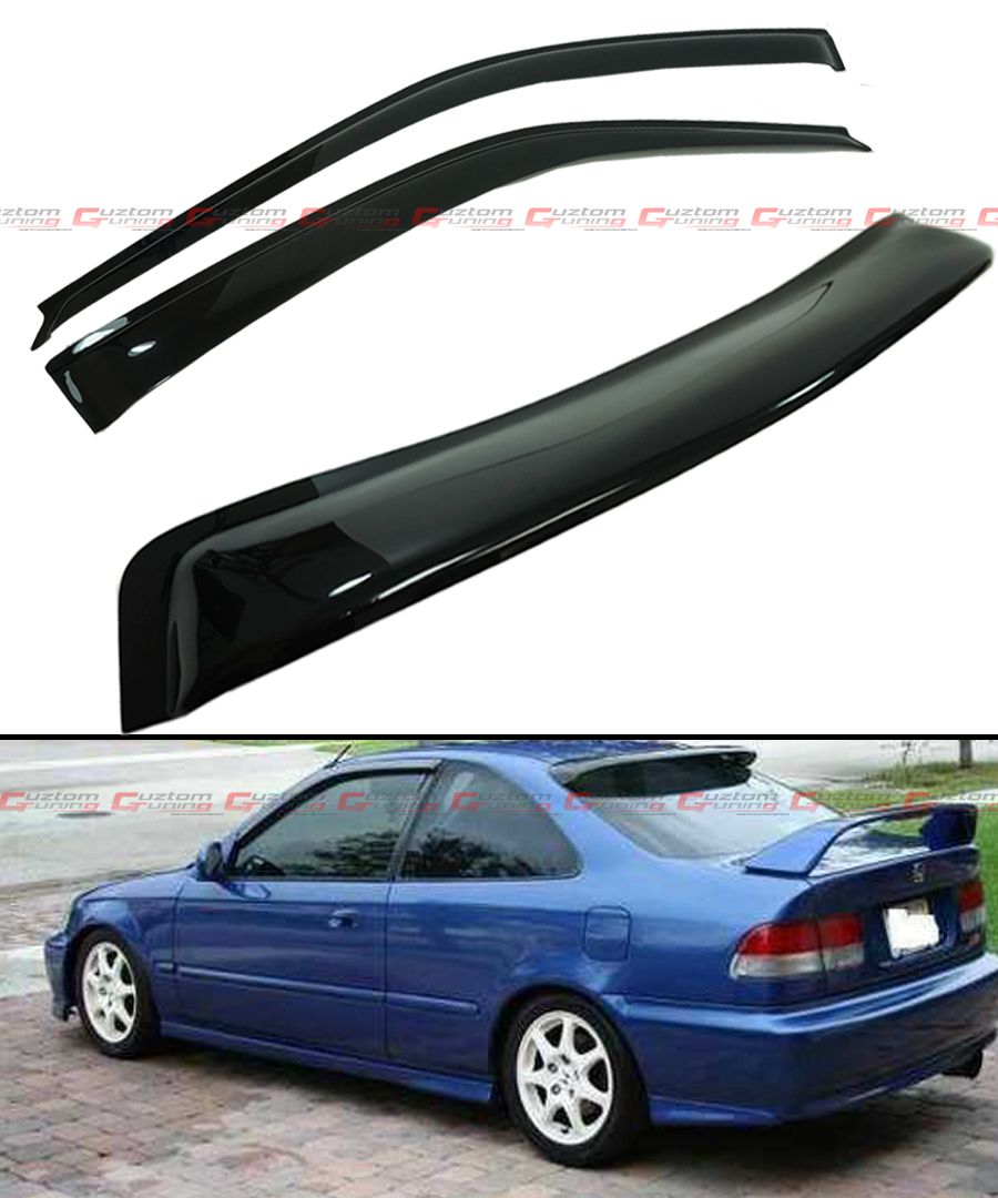 96 00 6th gen honda civic coupe si em ej smoke rear window for 2000 honda civic rear window visor