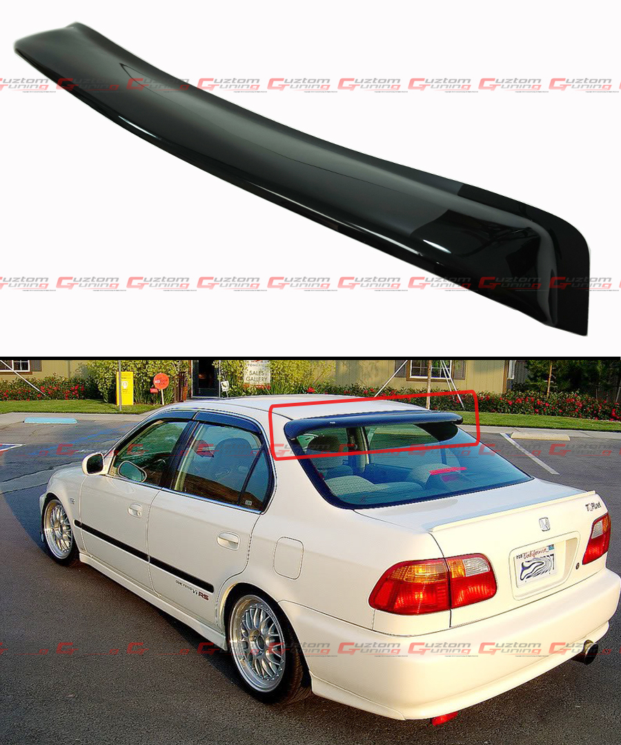 1996 2000 honda civic 4 dr sedan jdm smoke tinted rear for 2000 honda civic rear window visor