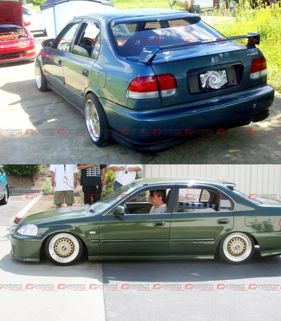 Para 1996 00 Honda Civic 4 Dr Sedan Jdm Smoke Tinted Janela Traseira Teto Aero Viseira Ebay