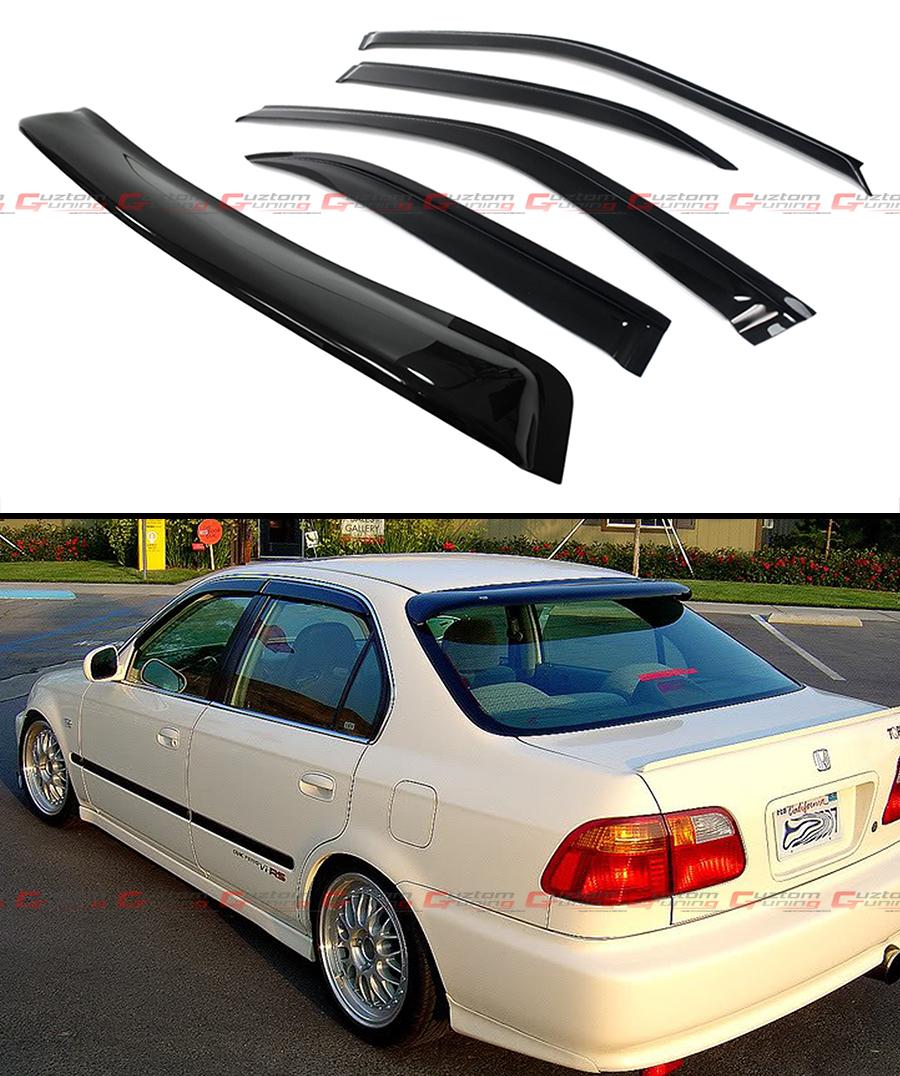 96 00 6th gen honda civic sedan em ej smoke rear window for 2000 honda civic rear window visor