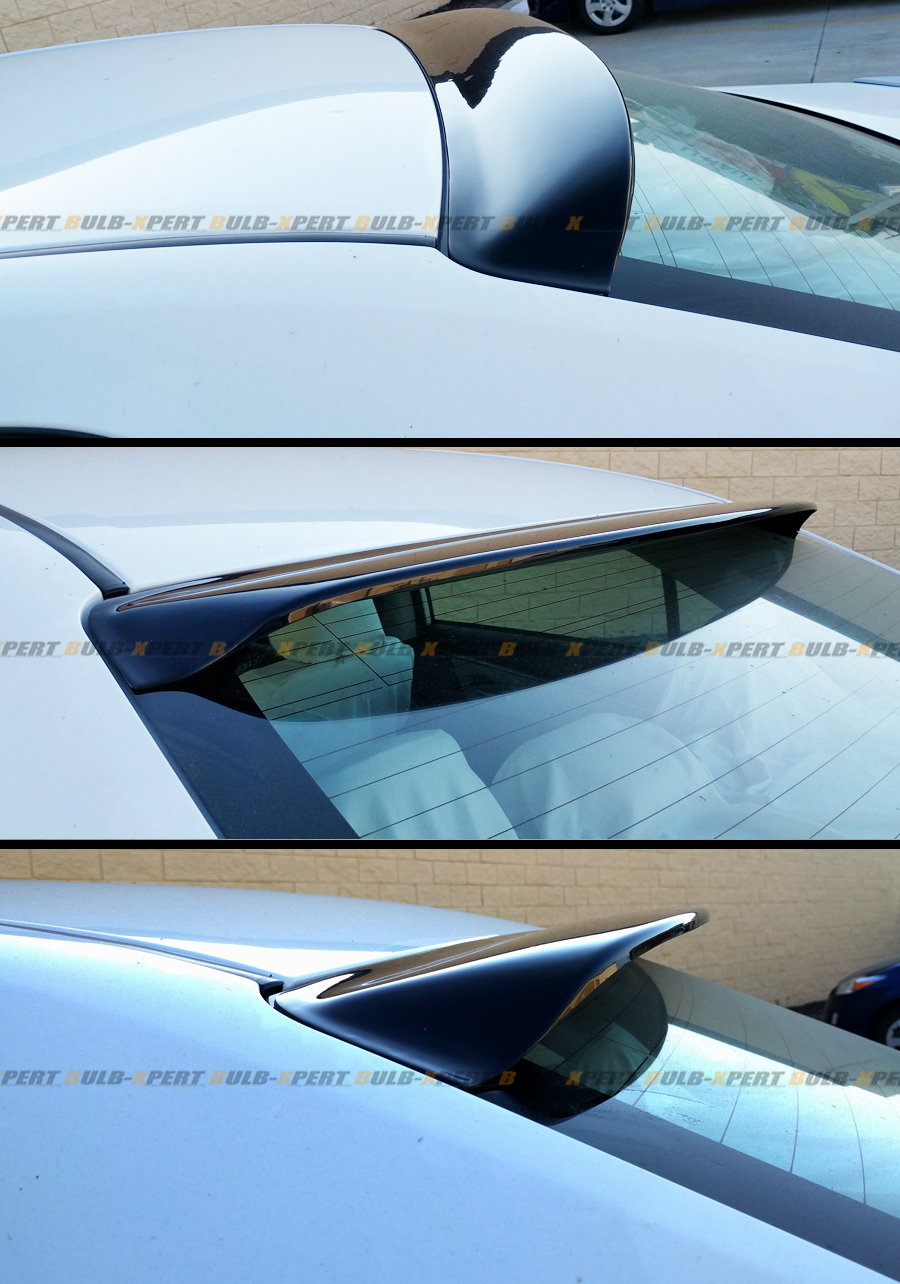 JDM Style Glossy Black Rear Roof Window Visor Spoiler For ...