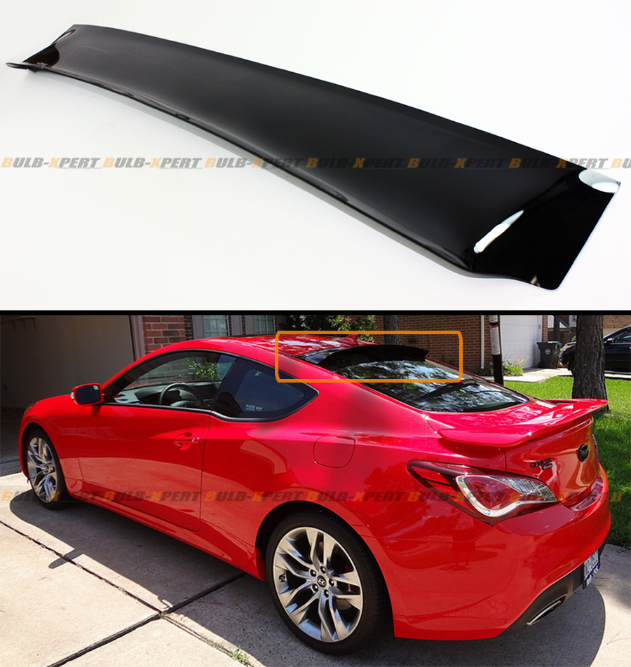 Hyundai Genesis Two Door: HIC USA BRAND SMOKE TINTED REAR ROOF AERO WINDOW VISOR FOR